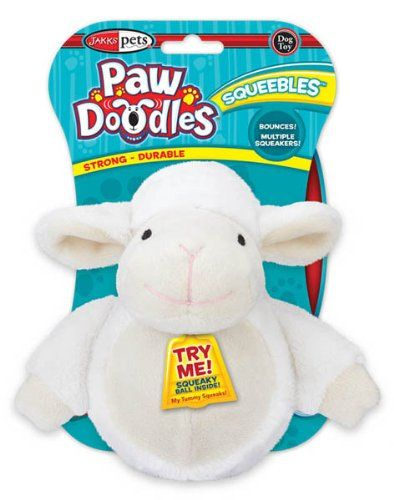 Pawdoodles Squeebles Dog Toy Lamb Click Affiliate Link Amazon