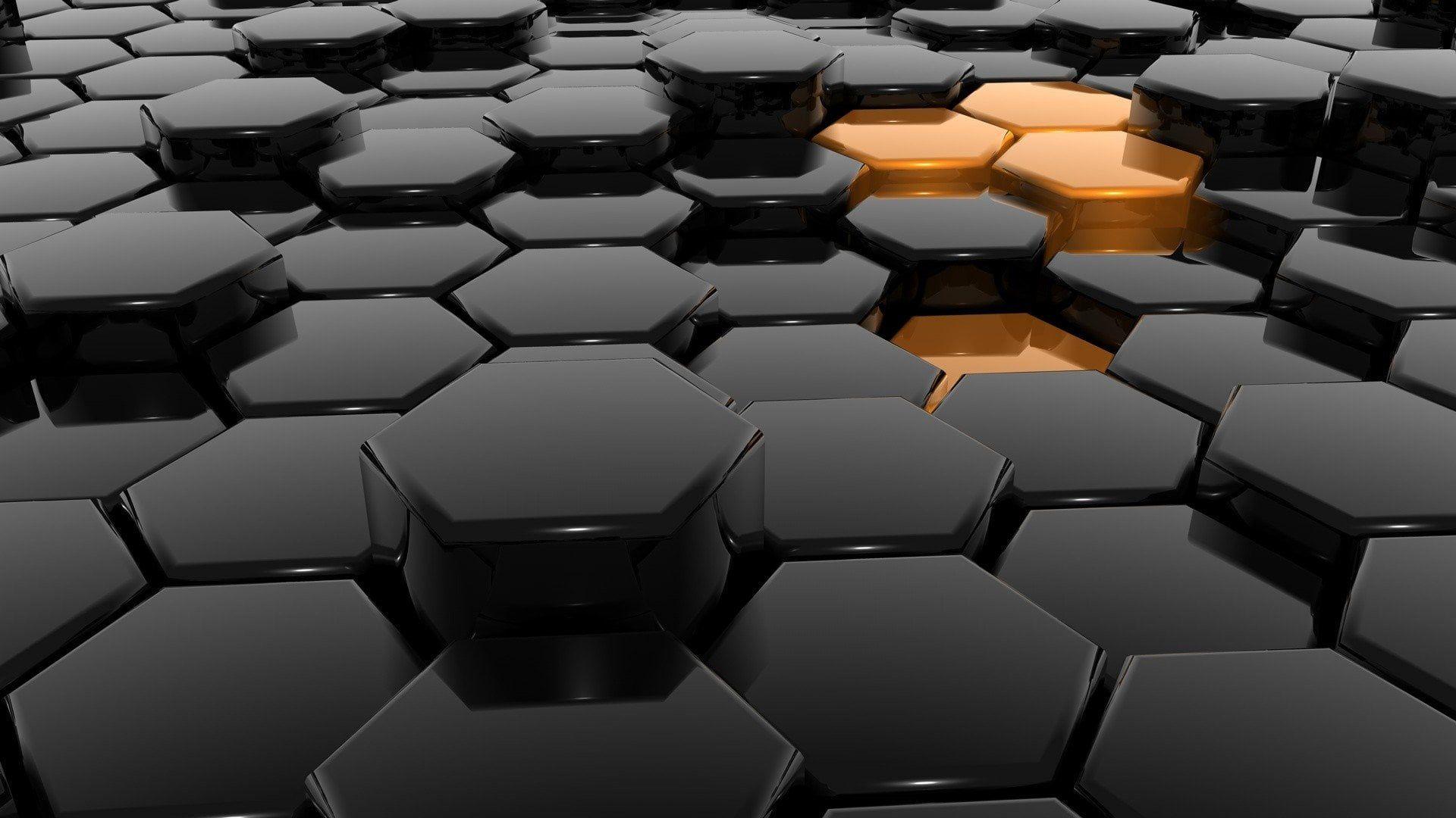 Hexagonal Black Digital Wallpaper Artistic 3d Art Abstract Digital Art 1080p Wallpaper Hdwallpaper Digital Wallpaper Hexagon Wallpaper Honeycomb Wallpaper 3d art wallpaper photos