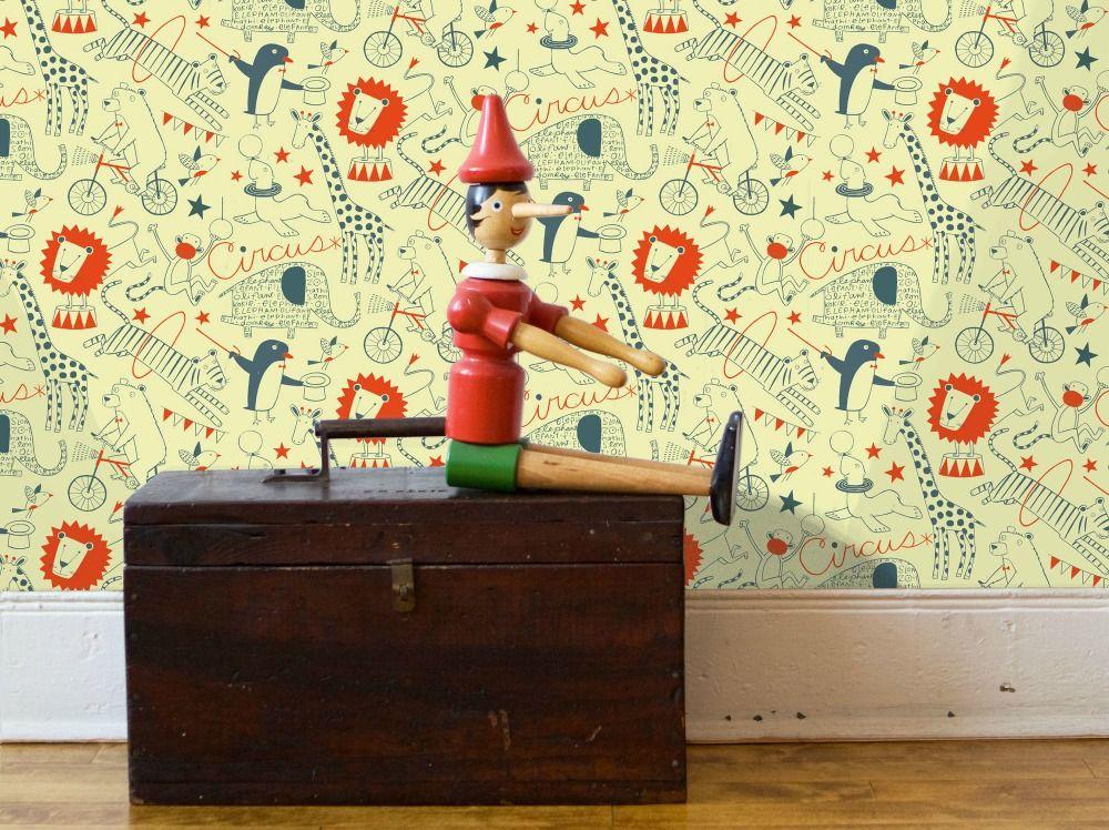 Loboloup circus wallpaper all modern 0 loboloup childrens wallpapers from all modern