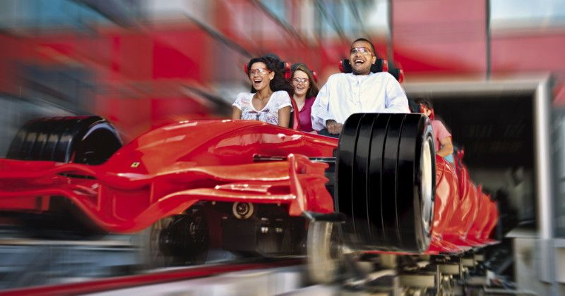 Forumla Rossa #RollerCoaster at #Ferrari World #AbuDhabi, #UAE