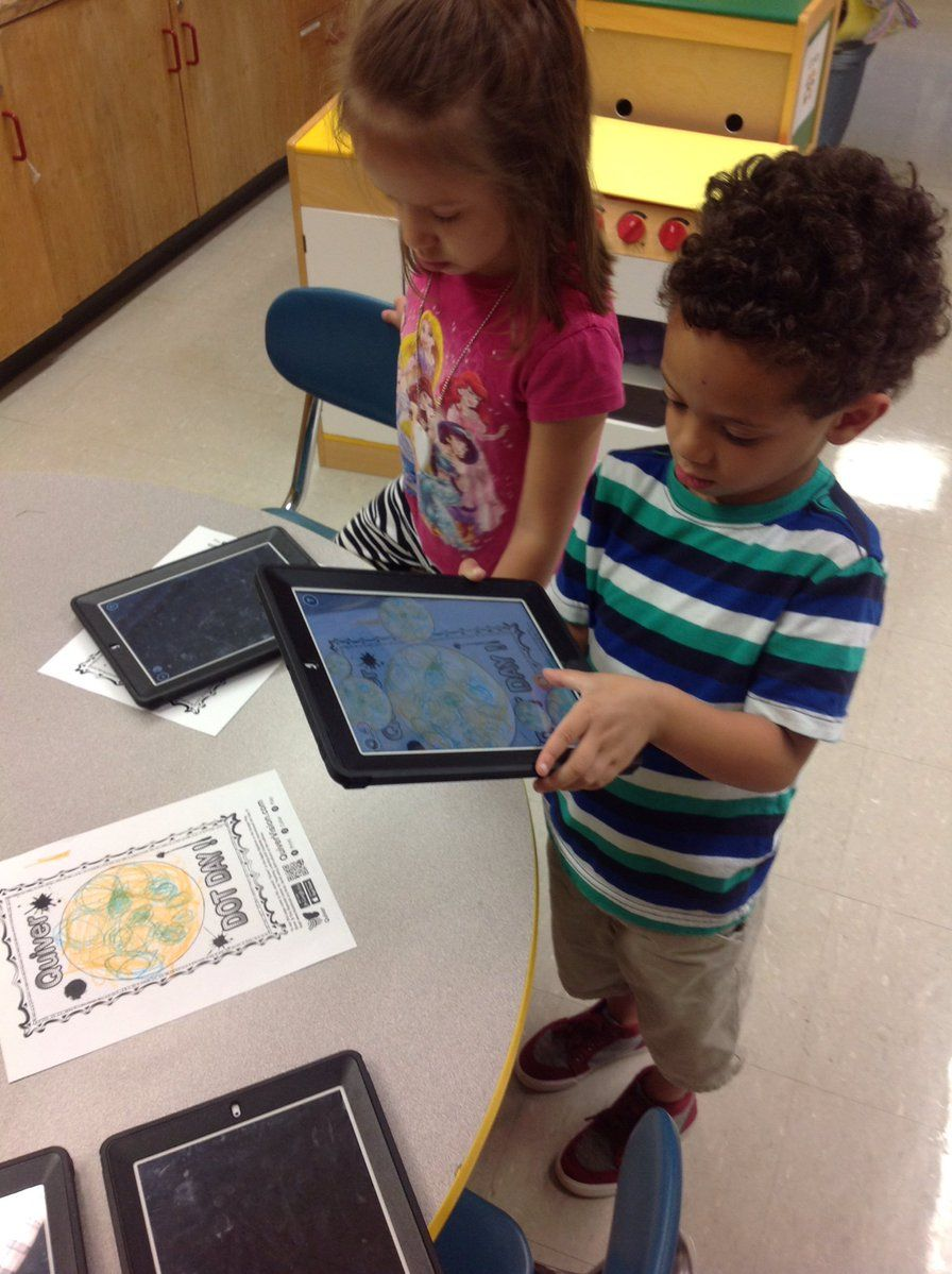 """Jessica Loffredo on Twitter: """"We used @quivervision on iPad to make our 'Dots'…"""