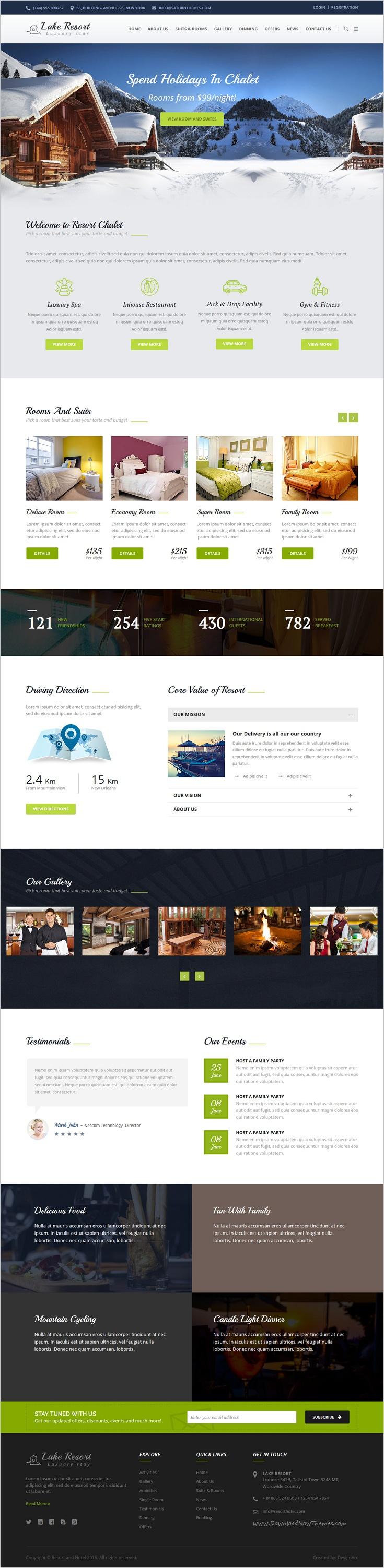 Lake Resort Resort And Hotel HTML Template Pinterest Lake - Html homepage template