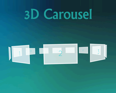 3D Carousel Using TweenMax js and jQuery #3D #effect #carousel