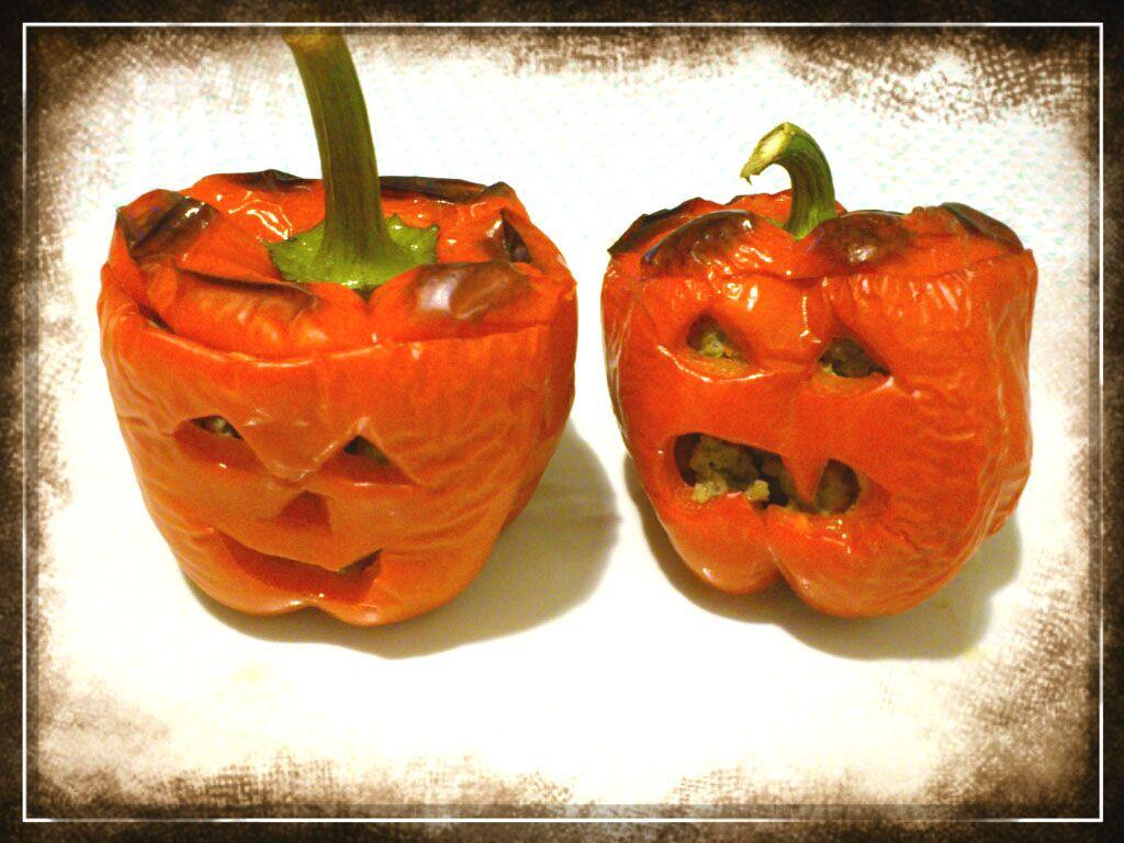 OTRO DIA PERFECTO: PIMIENTOS RELLENOS. Especial Halloween