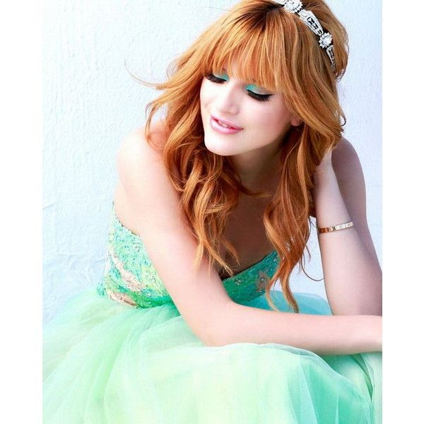 Bella thorne luce la colección de la marca sherri hill ❤ liked on Polyvore featuring bella thorne, hair and people