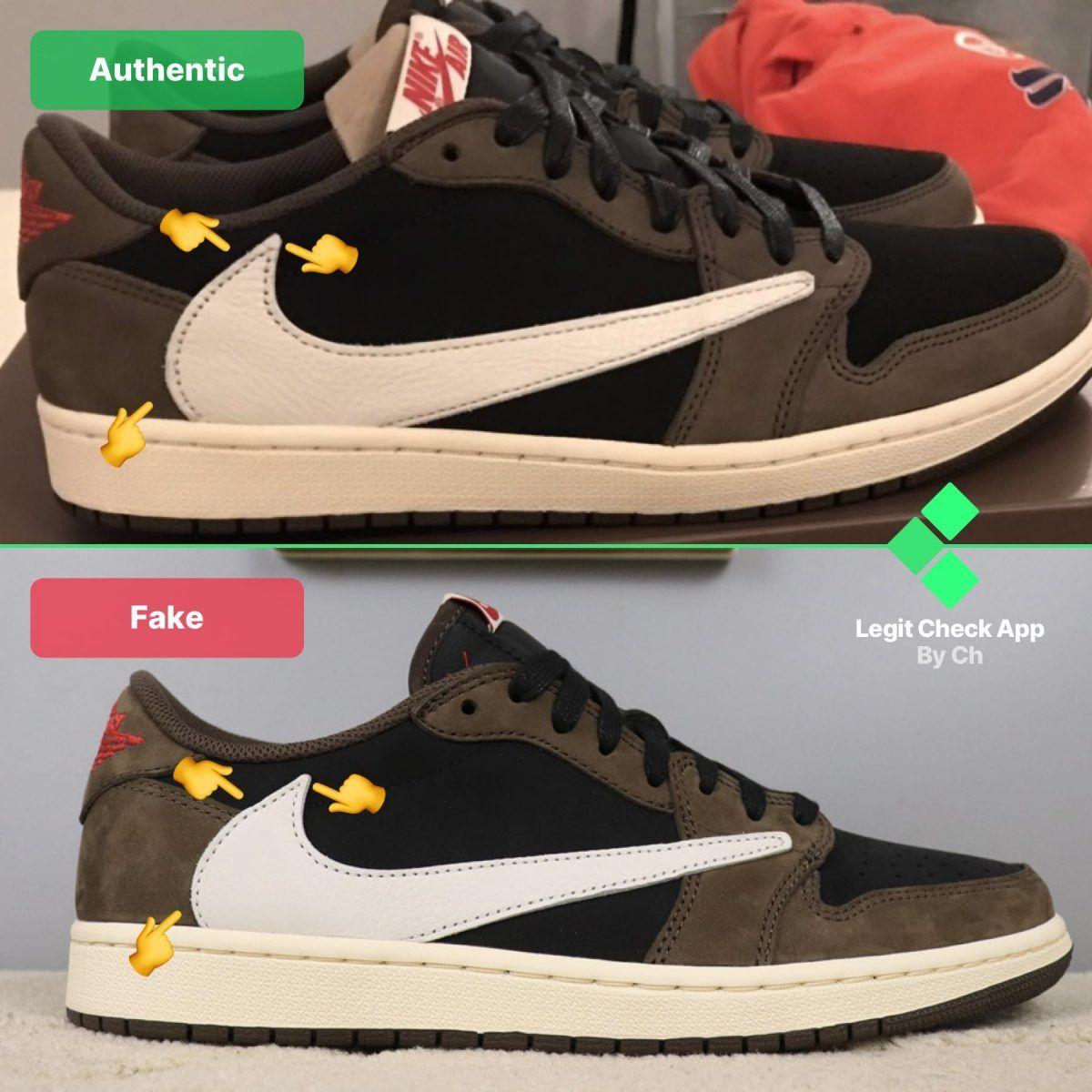AJ1 TS Low Fake vs Real Guide - Reverse
