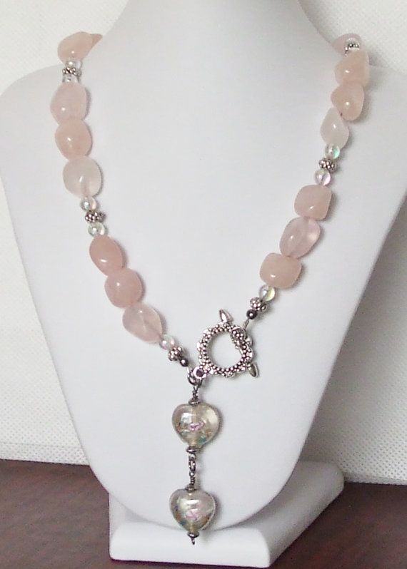 Items similar to Share the Love rose quartz necklace on Etsy