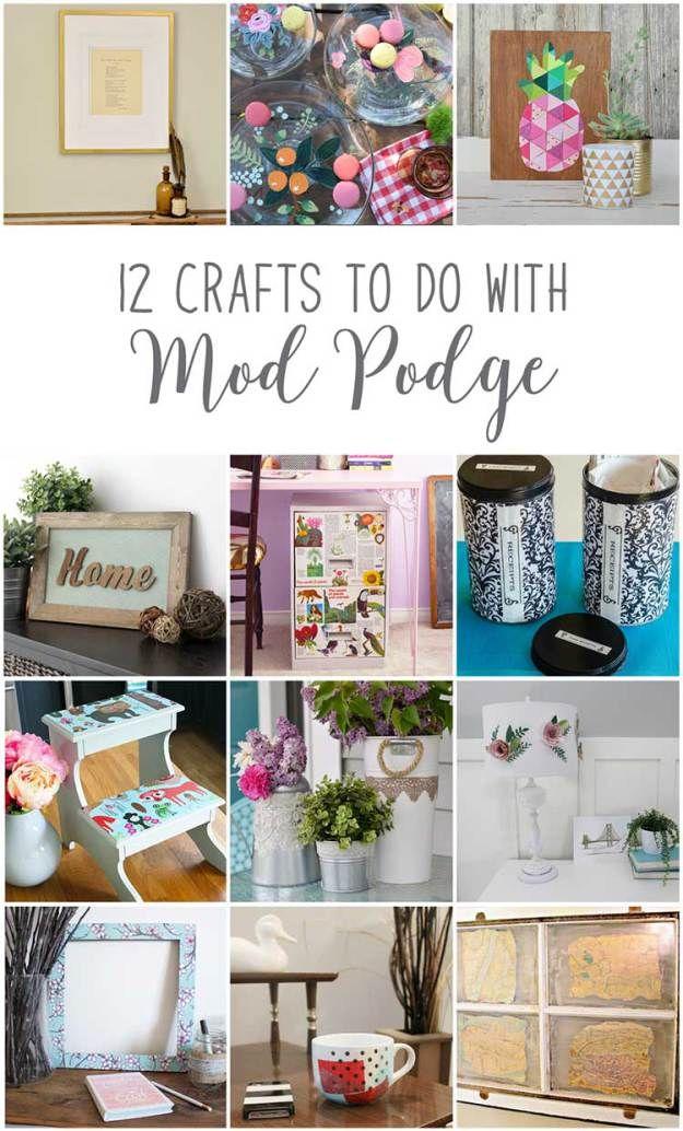 Wondrous Decoupage A Foot Stool Crafts Diy Mod Podge Mod Podge Machost Co Dining Chair Design Ideas Machostcouk