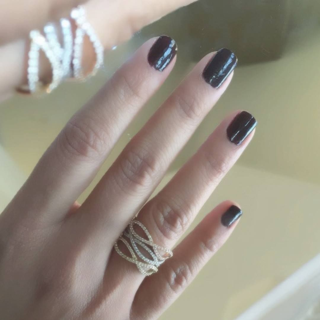 Getting excited for Fall with a dark-hued mani and our