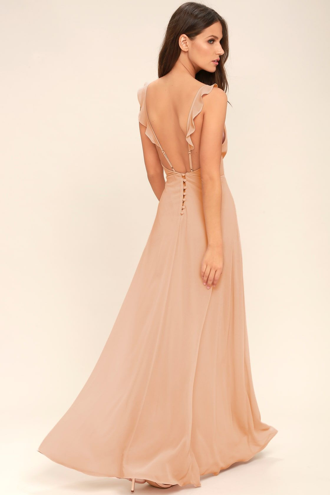 1fcc7c215ec Lovely Blush Maxi Dress - Sleeveless Dress - Bridesmaid Dress. Meteoric  Rise Blush Maxi Dress Pink Formal Dresses ...