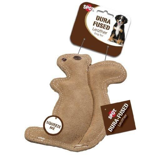 Ethical Pet Dura Fused 8 Inch Leather Dog Toy Small Squirrel