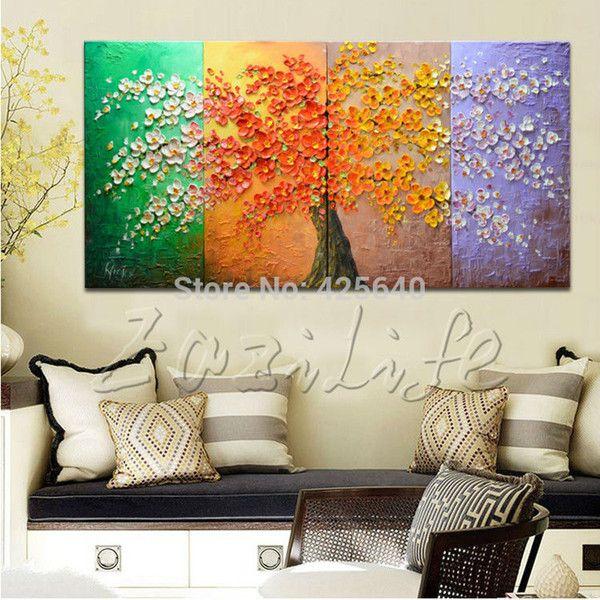 Pintura al leo sobre lienzo cuadros de la pared pinturas para pintado panel sala muro m ltiples - Cuadro para pared ...
