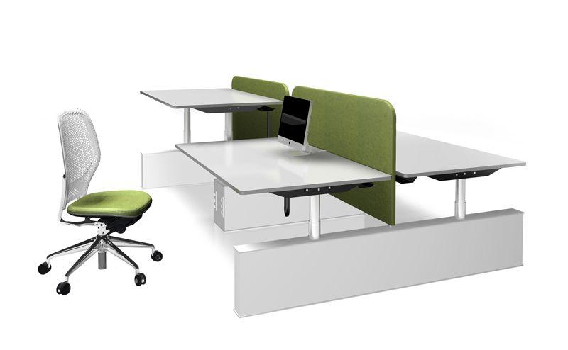 Zit sta bench werkplek verstelbare hoogte bureau beeldscherm