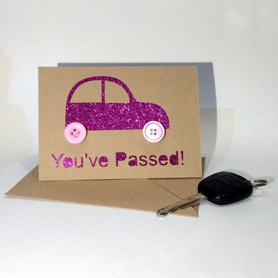 You've Passed  Driving Test Card car themed by ElisaEtemad on Etsy