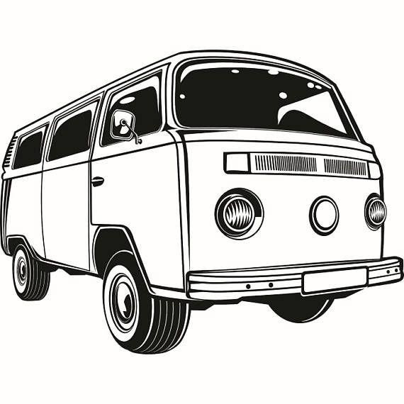 685439a6dde28 Volkswagen VW Bus #2 Classic Vintage Retro Van Surfing Vehicle ...