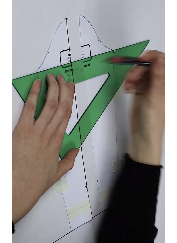 Tutorial patrón manga jamón Maestros de la Costura