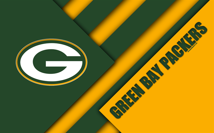 Download Wallpapers Green Bay Packers 4k Logo Nfc North Nfl Green Yellow Abstraction Material Design American Football Green Bay Wisconsin Usa Nation Green Bay Packers Green Bay Green Bay Packers Logo