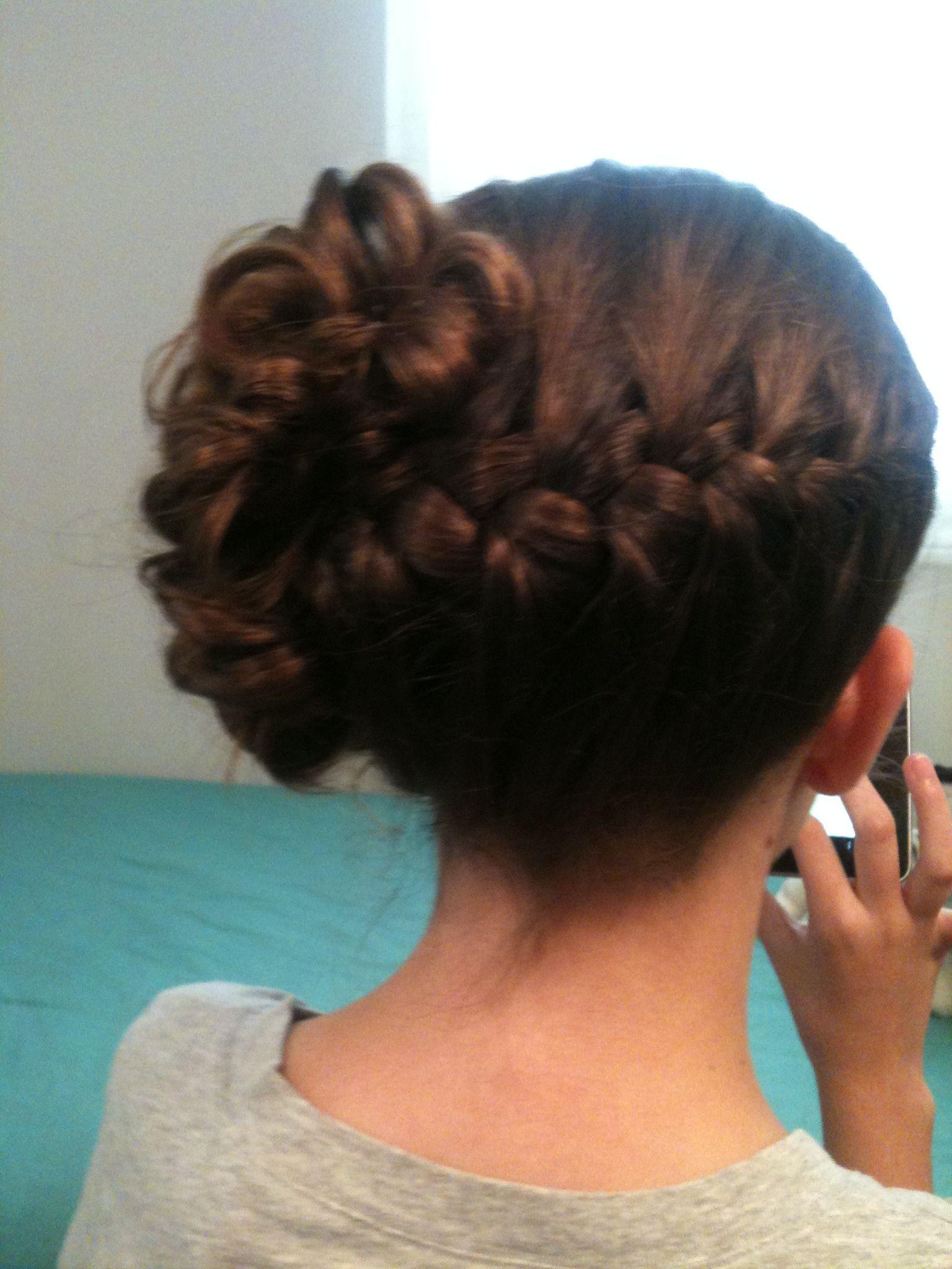 wedding hairstyle, jr bridesmaid hair , braid