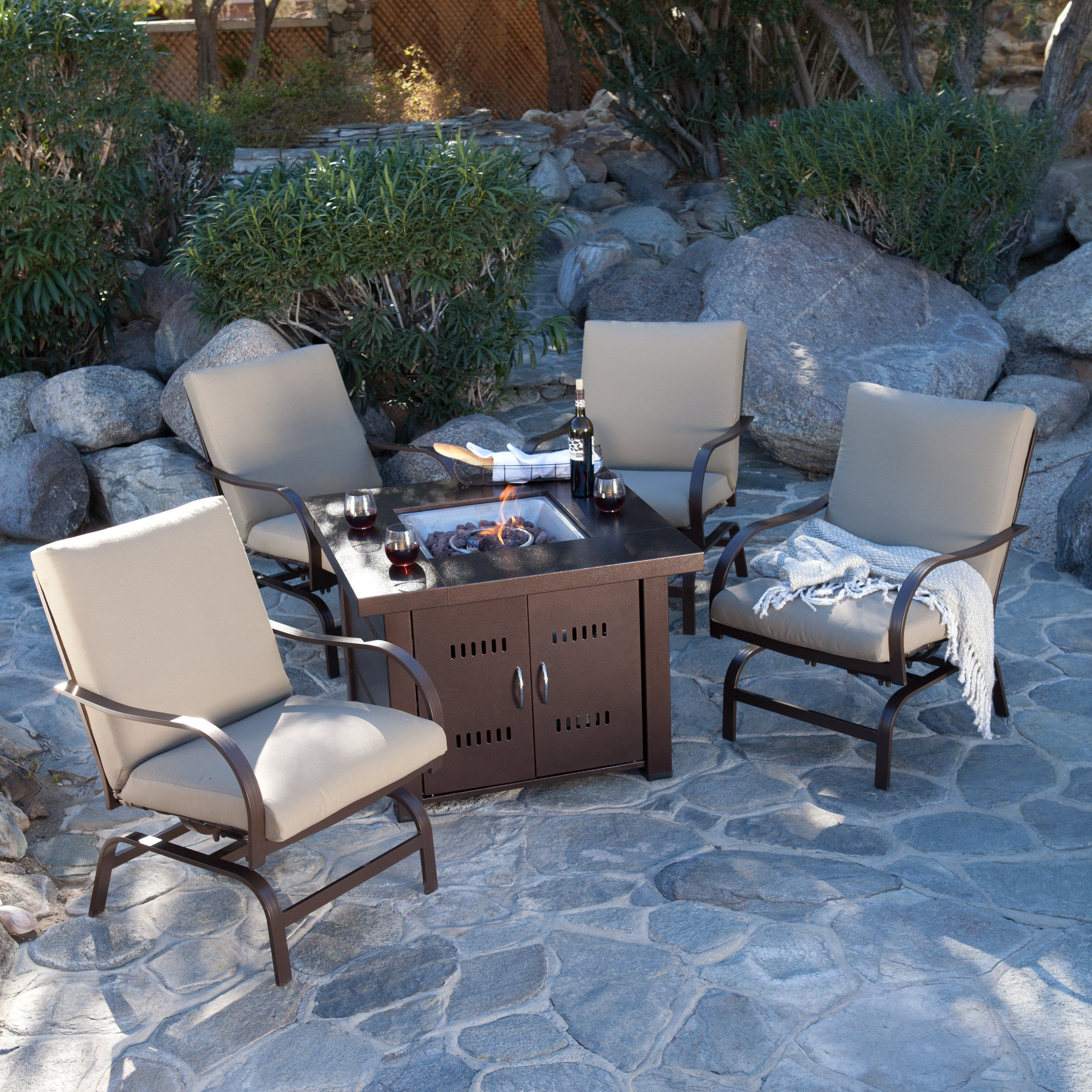 ... Propane Antique Bronze Fire Pit   The AZ Heater Propane Antique Bronze Fire  Pit Blends In Beautifully With Your Other Wooden Or Wicker Patio Furniture.