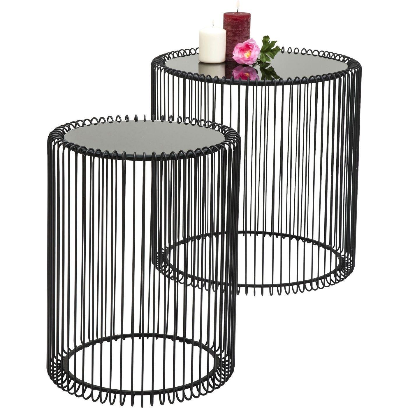 Beistelltisch Wire Schwarz Klein 2 Set In 2019 Tische