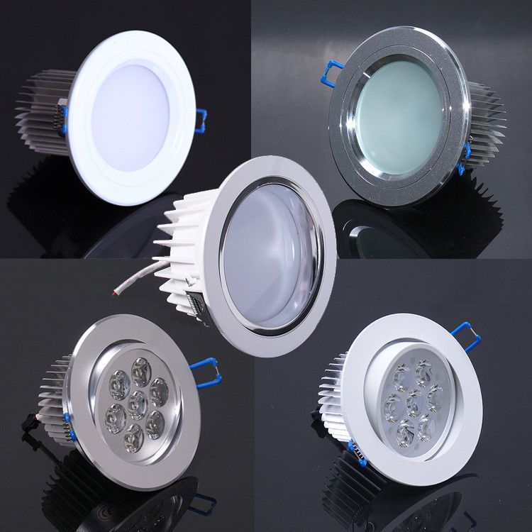 7w Led Ceiling Down Light Fixture Kit Recessed Lamp Bulb White