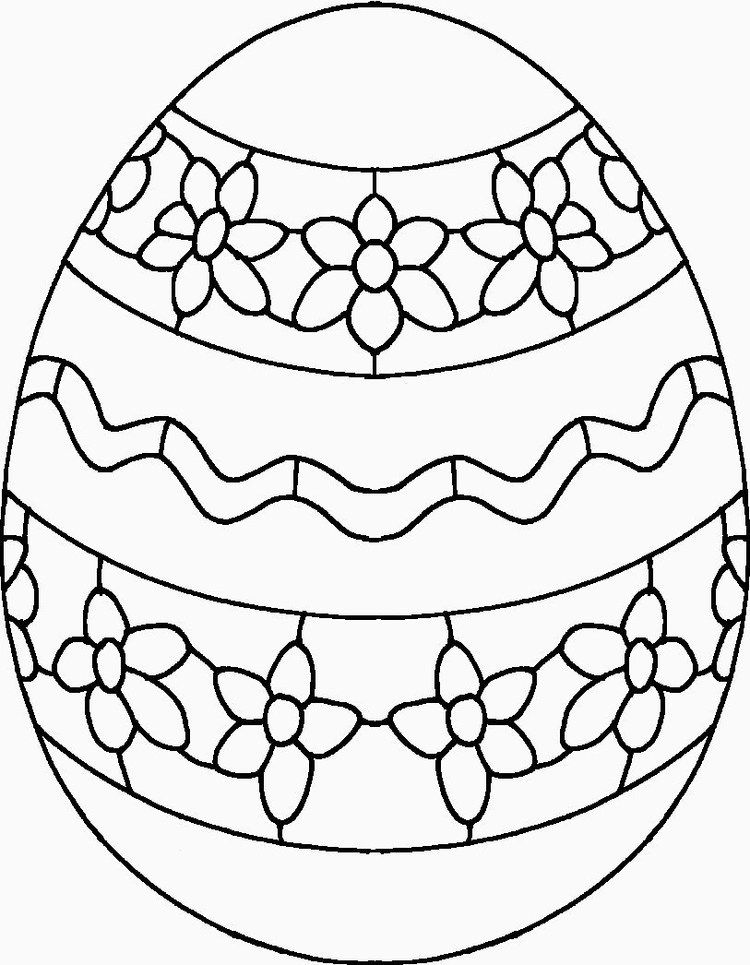 Printable Easter Egg Coloring Pages Easter Egg Coloring Pages