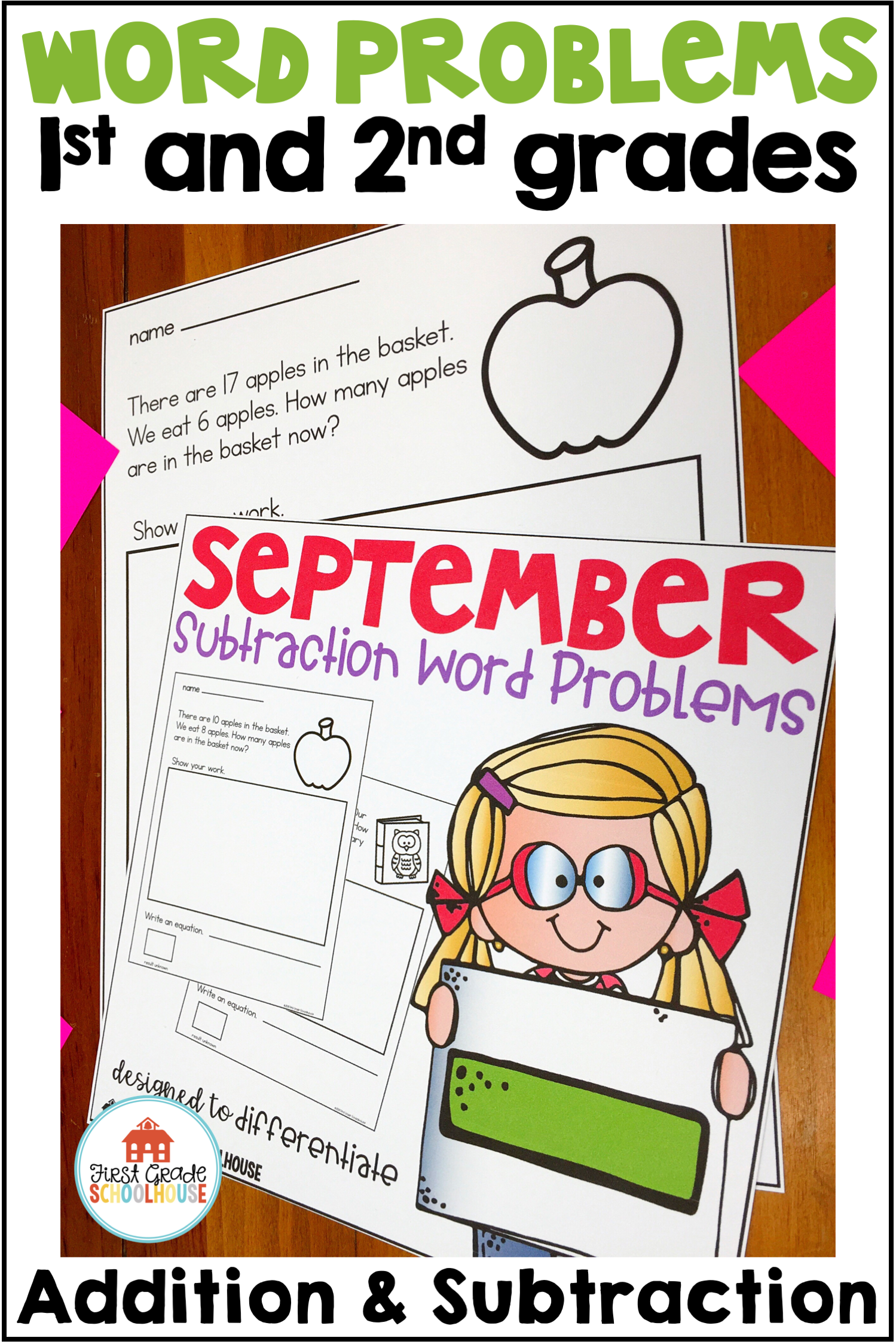 First Grade Word Problems Addition And Subtraction Bundle