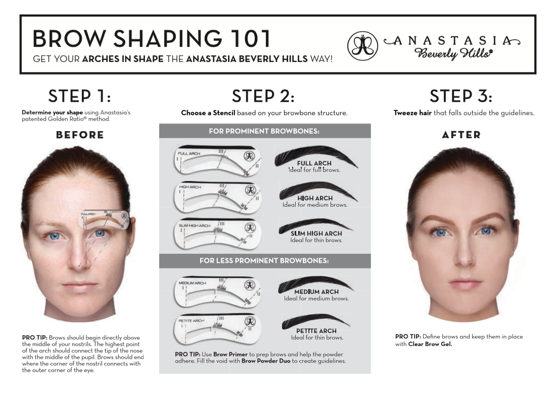 Image result for ABH + golden ratio brow