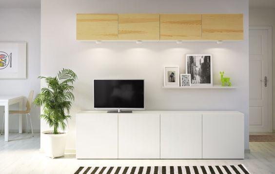 Composici n lineal mueble tv besta decoraci n 15 - Composicion salon ikea ...