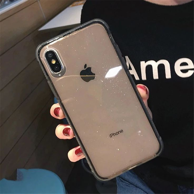 Glitter powdered transparent case for iphone xs max xs x 7