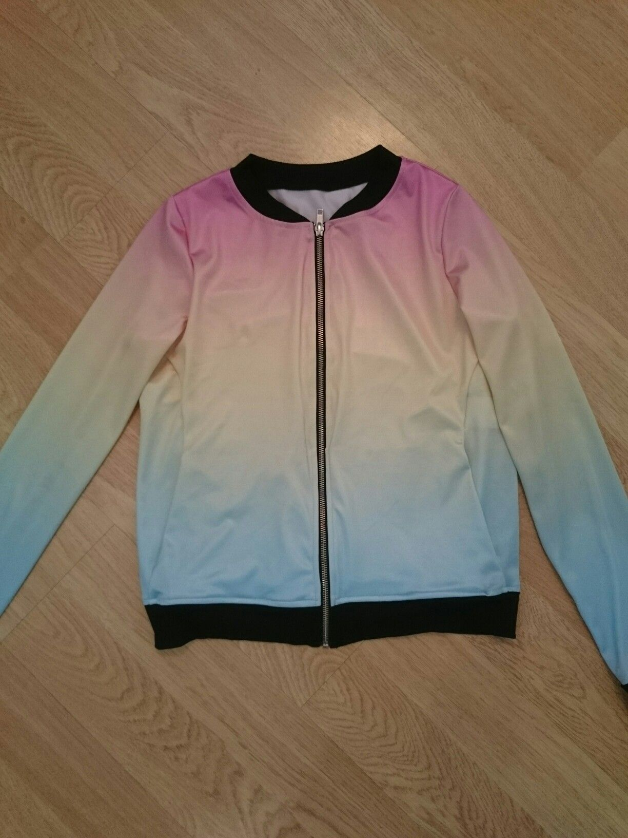 3042c9df9 Unreleased pastel rainbow bomber jacket from the Nov 16 Black Milk ...
