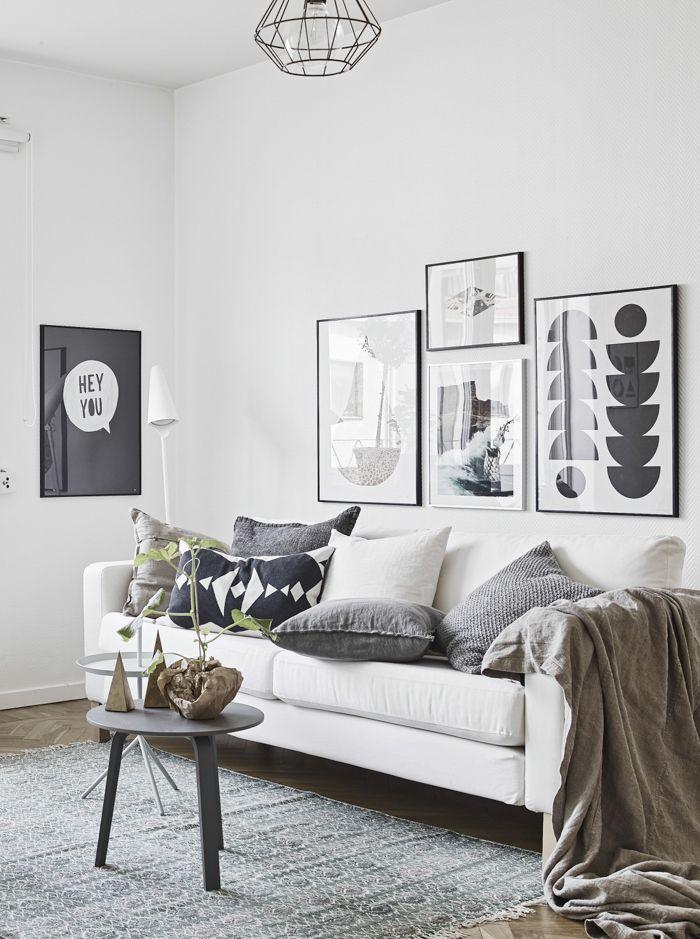 Nordic Living Room Picture Wall Interior Hjem Indretningsideer