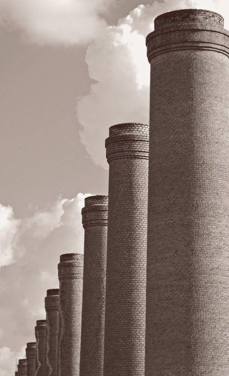 Factory chimnies.