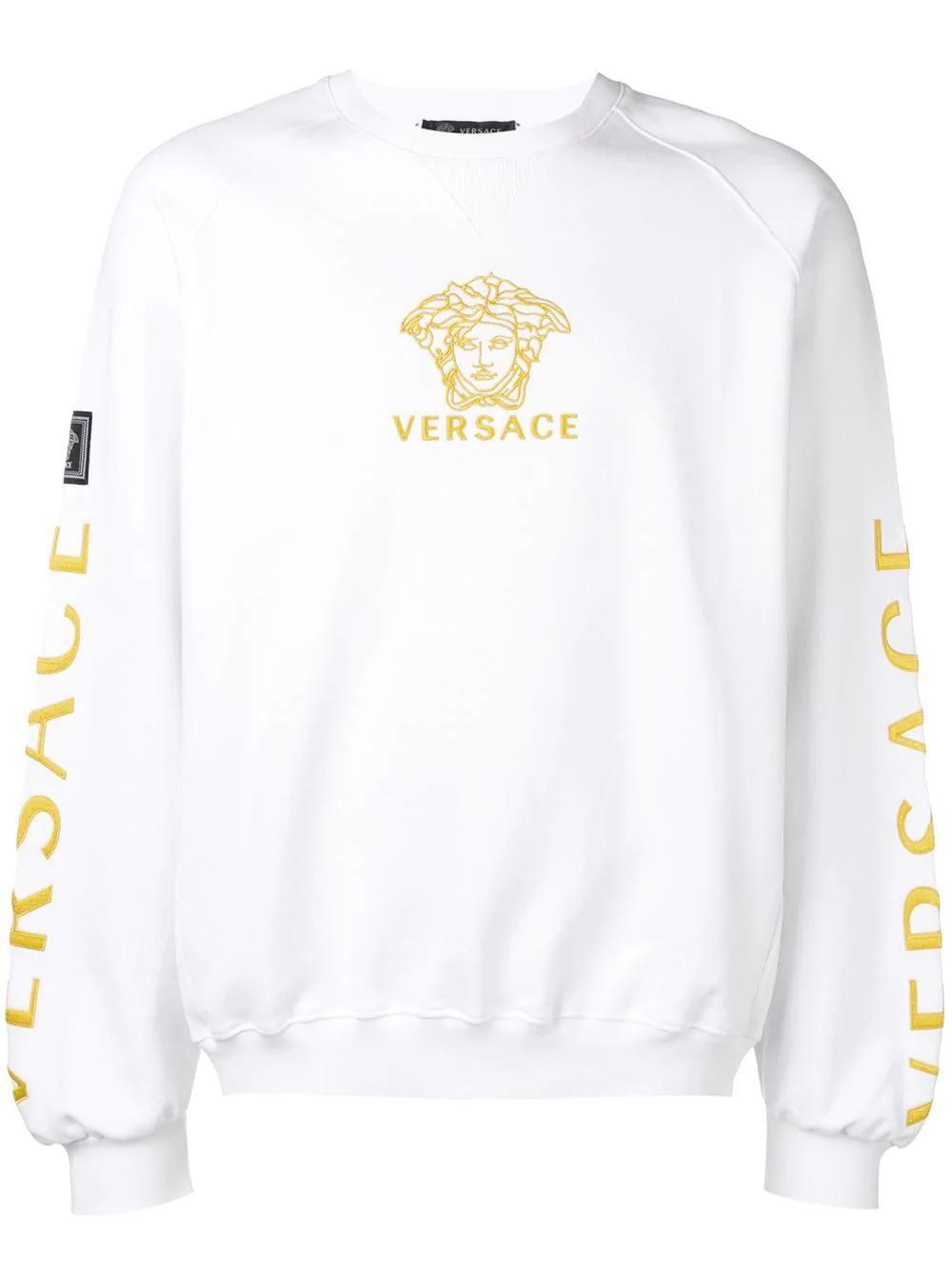 Versace 徽标刺绣套头衫 Versace Cloth Sweatshirts Versace Versace T Shirt