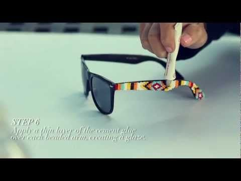 I'm going to make a pair of these, looks like fun! D.I.Y. Mosley Tribes Beaded Sunglasses | MTV FORA