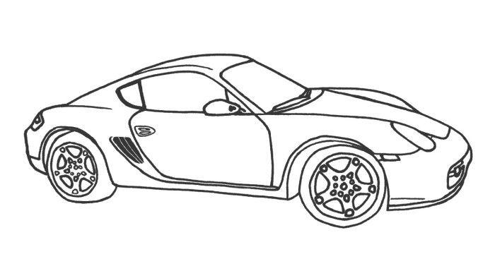 Car bugatti veyron coloring page