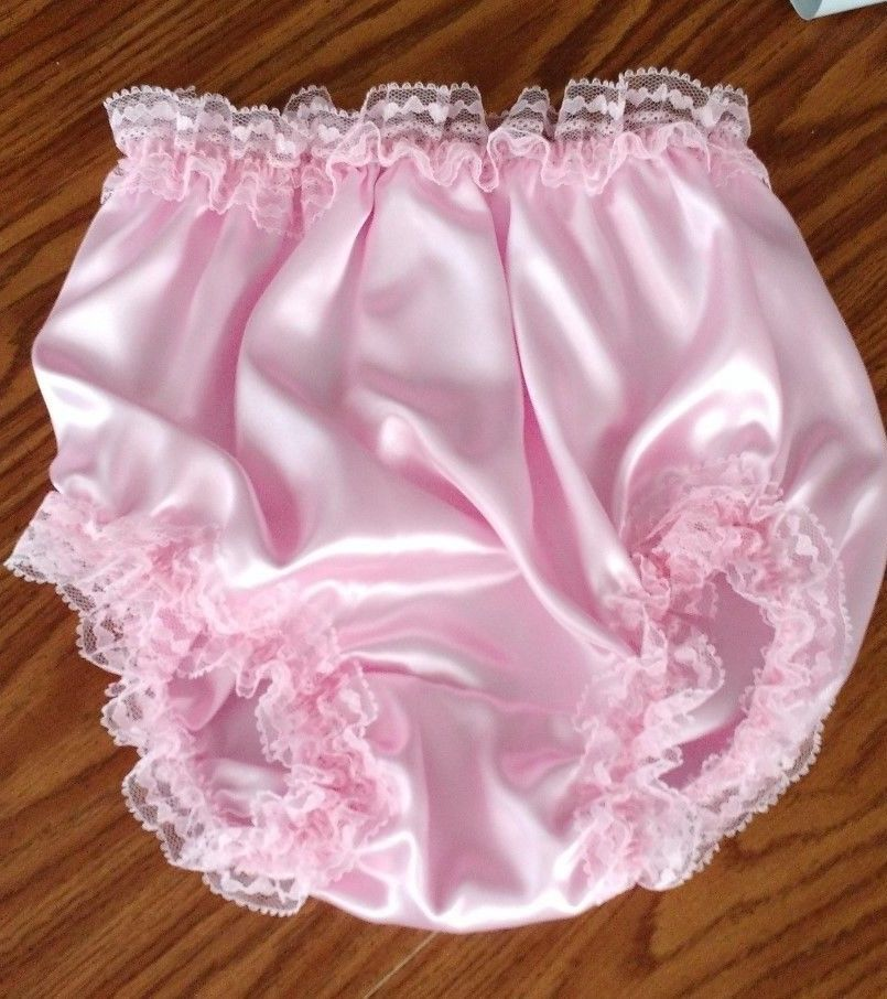 9798c231d Adult Baby Sissy Panties Pink Satin with Pink Lace New  Handmade  Panty