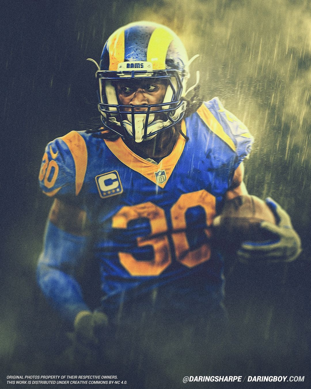 Todd Gurley Los Angeles Rams Daring Boy Interactive Los Angeles Rams Todd Gurley Nfl Football Art