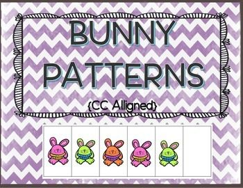 Patterns: Your students will love these colorful bunny patterns!  Cut and Paste interactive notebook activity. With this Interactive Patterns Cut and Paste, students can practice their cut and paste skills and sequence skills as they complete the patterns.
