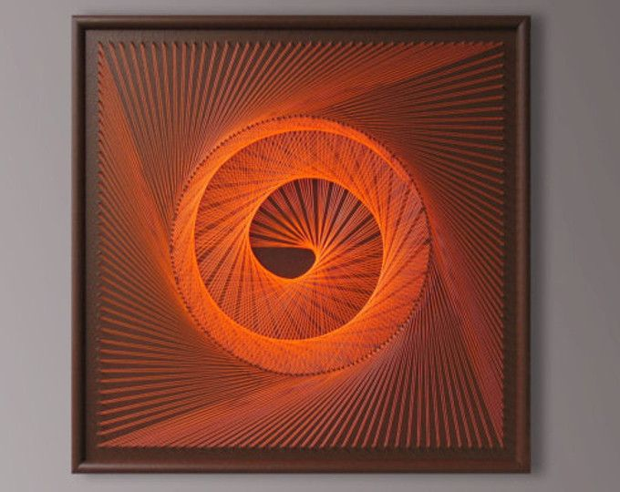 UV Wall Art Set In Red   Burgundy, Abstract Spiritual Zen Wall Decor,  Modern String Art, Sacred Geometry For Home Office A Special Gift