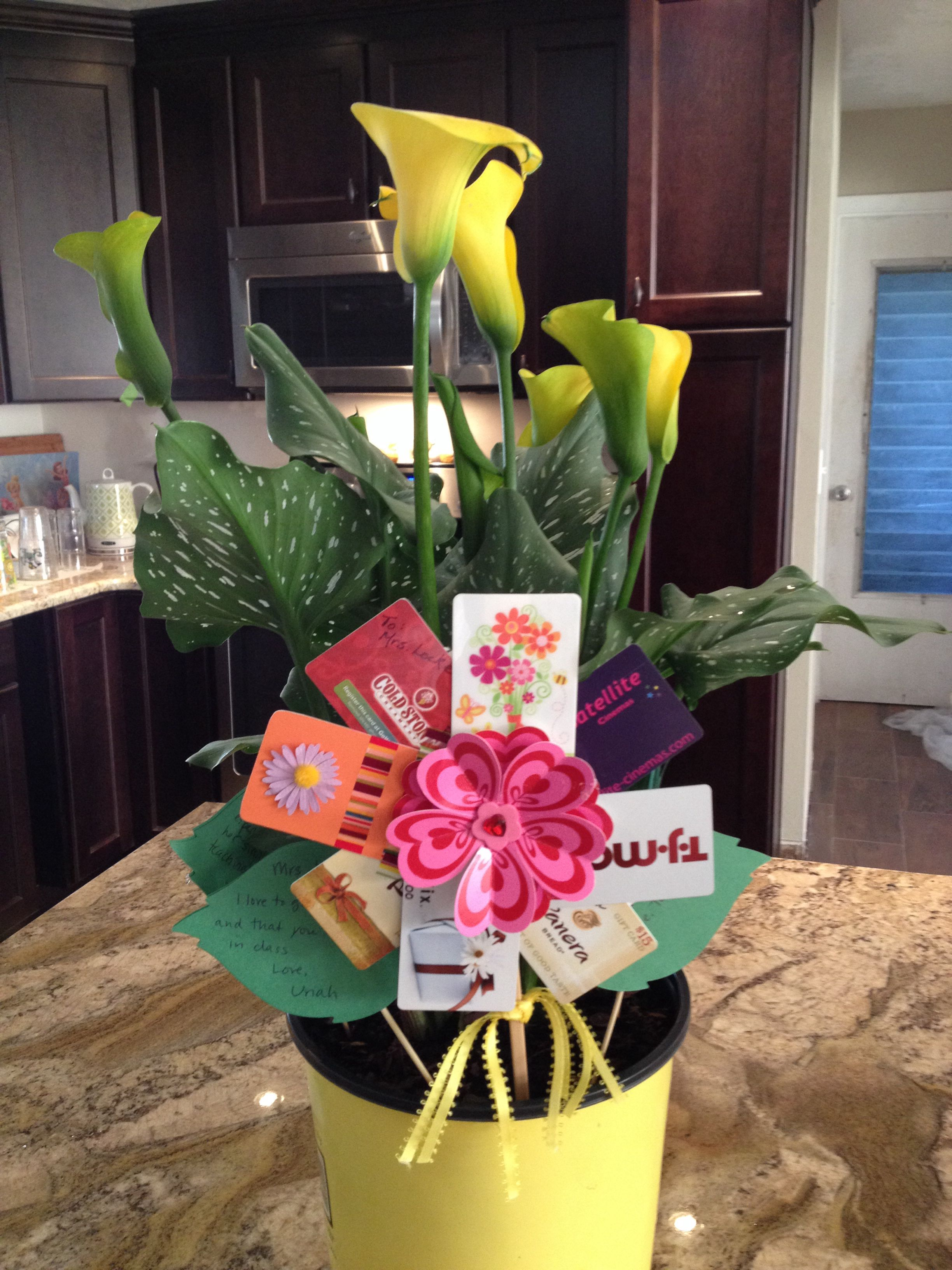 """""""Gift card tree"""" for Teacher Appreciation Week. Have each"""