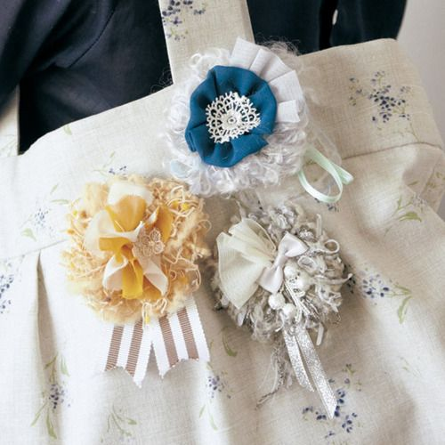 ときめく素材で華やかに アヴリルの糸で作るポンポンコサージュの会(7回限定コレクション)