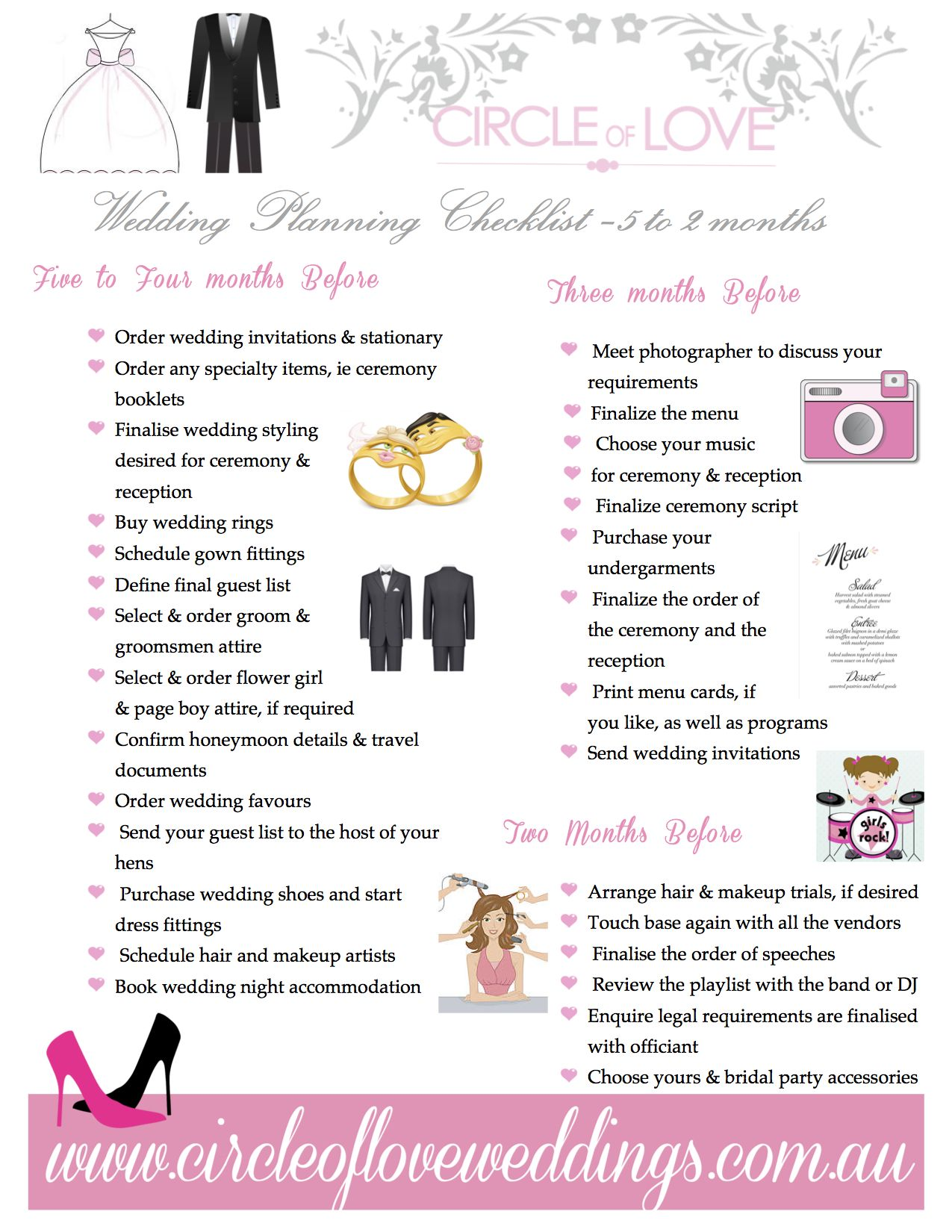 2 Wedding Planning Checklist 5 Months Before Download Our FREE Timeline