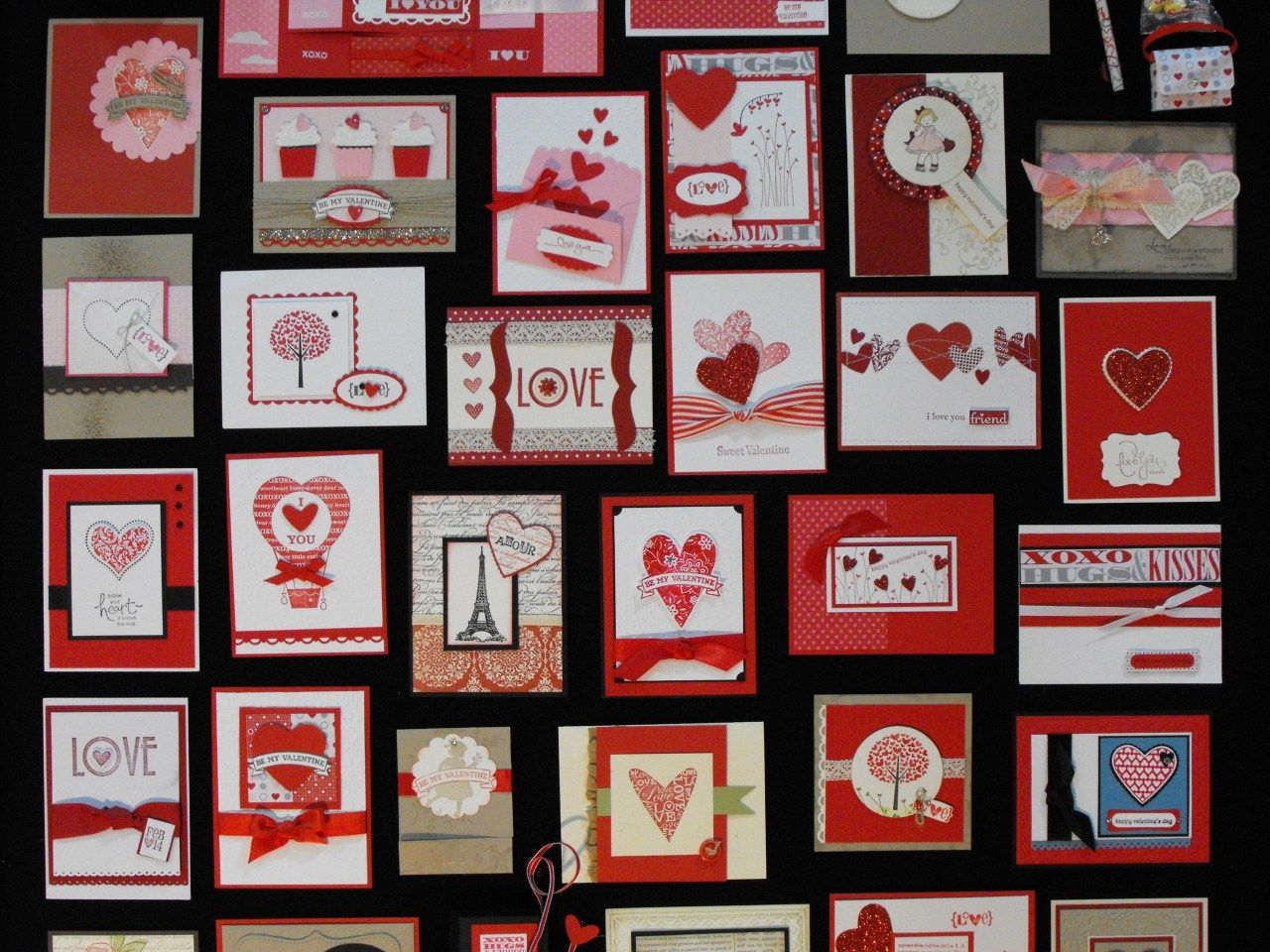 Card ideas from the 2011 Stampin' Up! convention (love the cupcakes on the upper left with the hearts instead of cherries!)