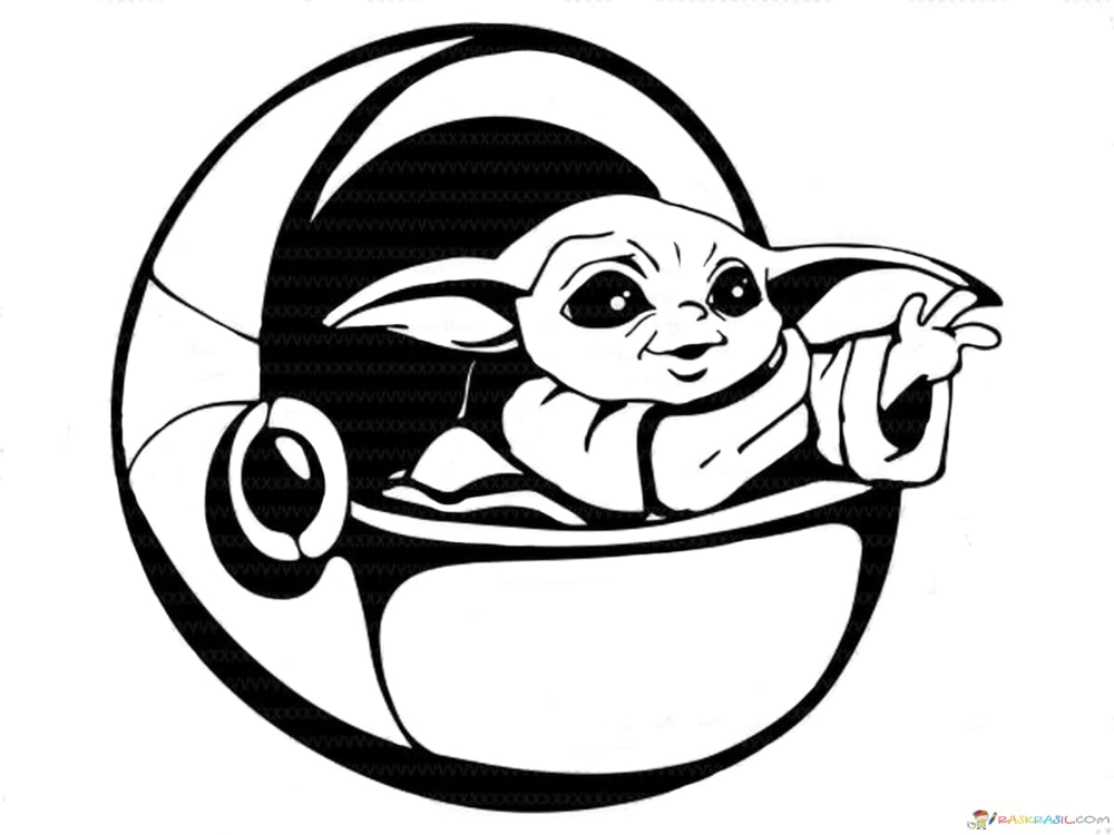 Coloring Pages Baby Yoda The Mandalorian And Baby Yoda Free Yoda Drawing Star Wars Art Star Wars Baby
