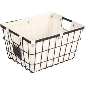 Better Homes And Gardens Small Wire Basket With Chalkboard Black Check To See If Size Will Fit In Closet On Shelves For Clothing Storage 7 00