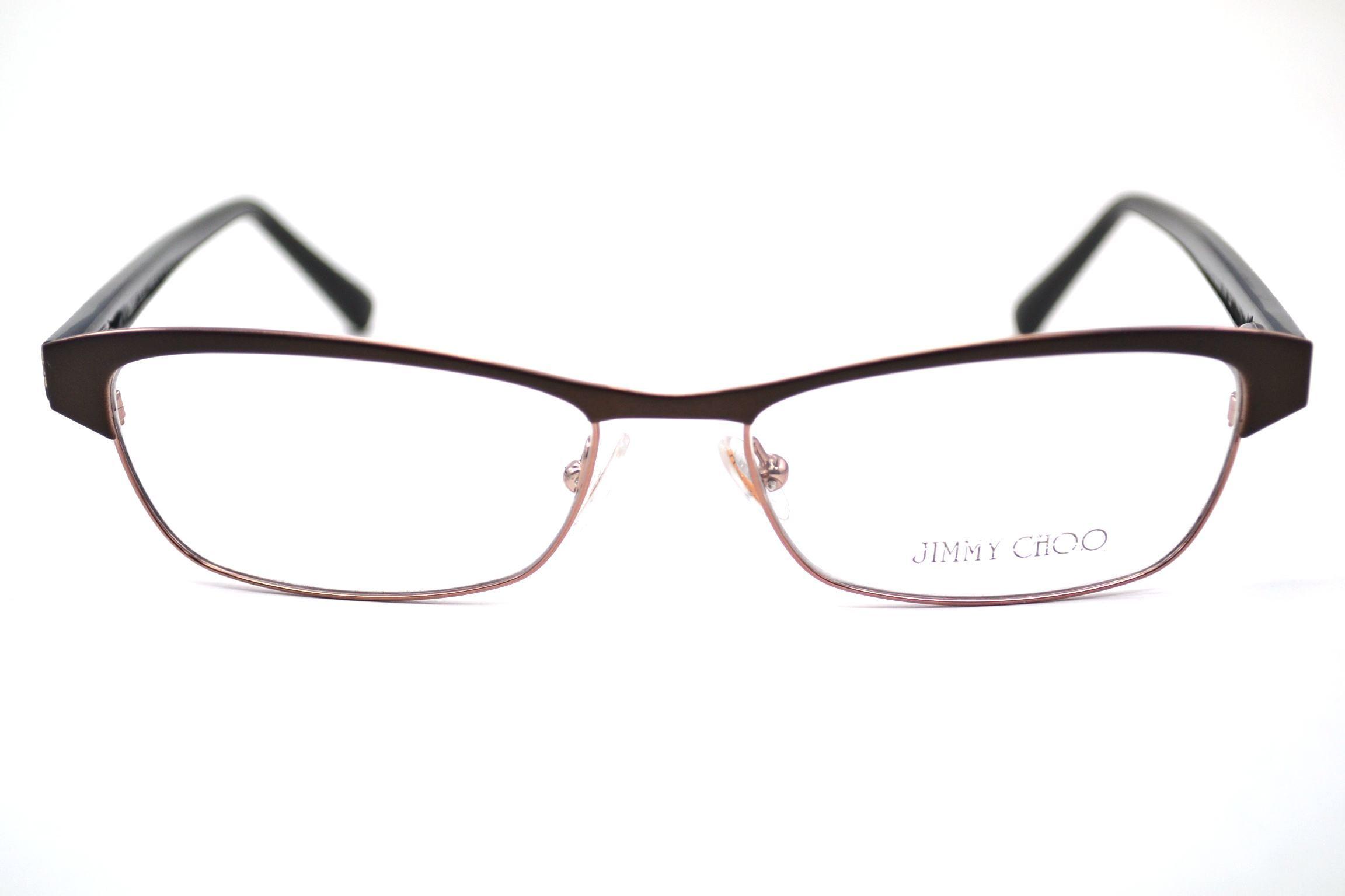 Jimmy Choo 43 Eyeglasses 0SYN Brown Glitter, 53 mm ...