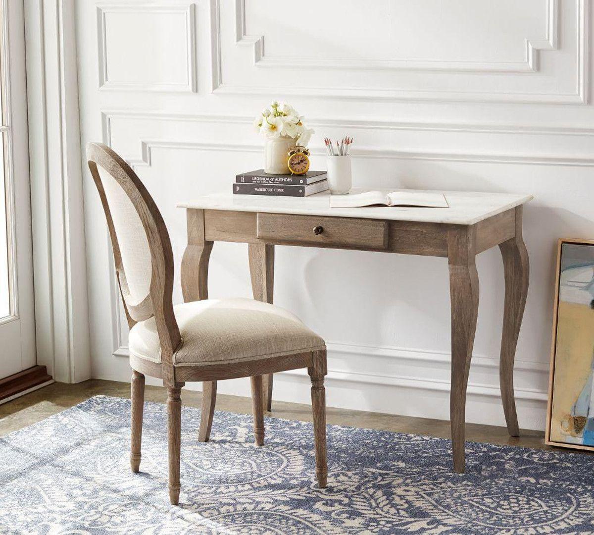 Alexandra desk pottery barn ca marble desk bedroom