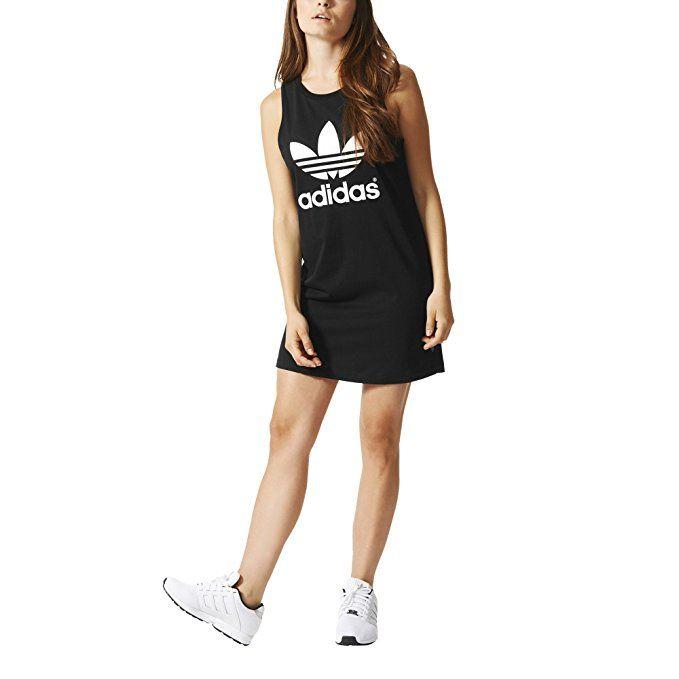 Adidas Originals Women's Trefoil Tank Dress, Black/White, XS