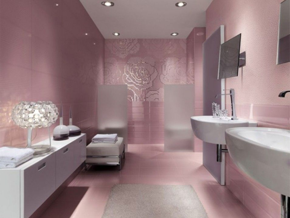 Pink Tile Bathroom Decorating Ideas Beach Themed Bathroom For Your Home Designs Bathroom Design